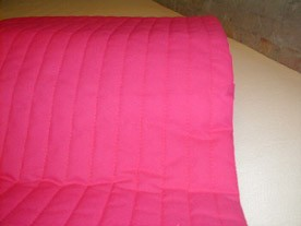 Pink latexmadras 70x150 cm