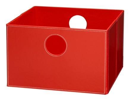 Lav boks i rød PU læder.