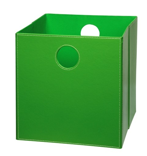 Høj boks i Grøn PU læder.