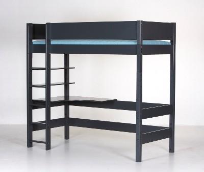Højseng, antrazit (90x200)