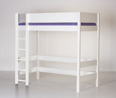 Højseng, hvid og bøg (90x200)