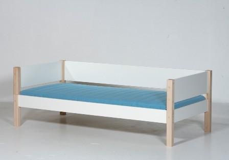 Briks, hvid og bøg (90x200)
