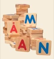 Magnet bogstaver.