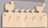 Nøglebræt med figurer (Høns)