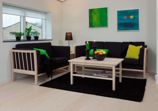 3 personers sofa i flanel (antracit)