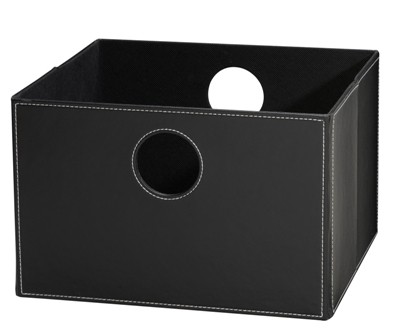 Lav boks i sort PU læder.