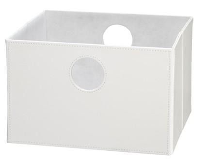 Lav boks i hvid PU læder.