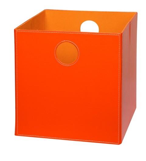 Høj boks i Orange PU læder.