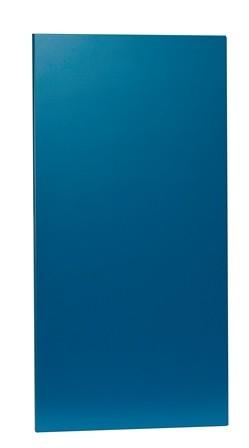 blå indvendig låge 35 x 70 cm til KUBIK halv reolkasse
