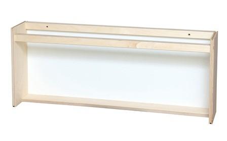 Høj bogrække hvid 70x13x29 cm