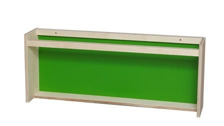 Høj bogrække grøn 70x13x29 cm
