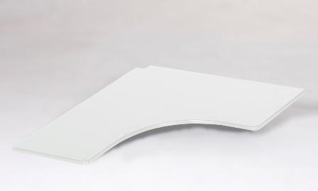 Skriveplade til højseng, hvid