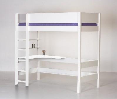 høj seng Højseng, hvidmalet høj seng