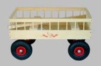 Legevogn 4  personer lufthjul