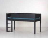 Halvhøj seng (køjeseng), antrazit (90x200)