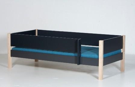 Junior seng, antrazit og bøg